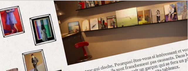 Parution My Little Lyon sur la galerie Mi Mathieu Iquel, atelier de peinture à Lyon