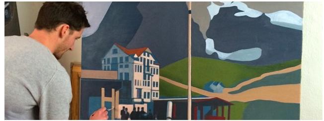Exposition de peinture Mathieu Iquel Maison Arpin les Alpes 1900-1930