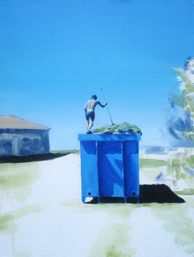 Huile sur Toile, Laurent par Mathieu Iquel, 80 x 65 cm