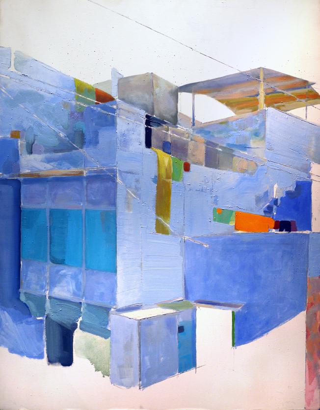 Jodhpur, Mathieu Iquel, huile sur toile, 2010, 115 x 89 cm