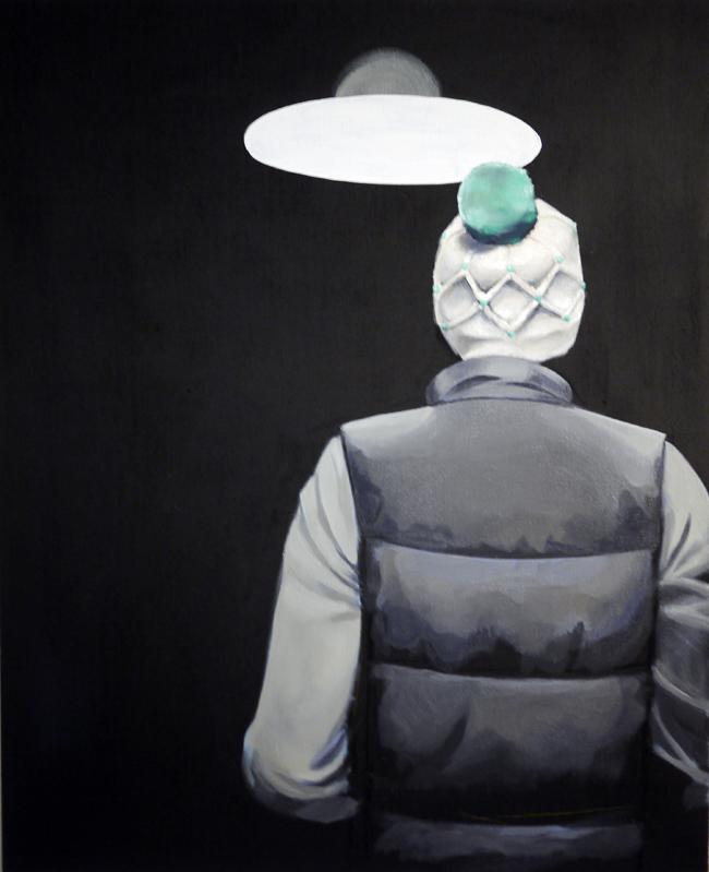 JC, Mathieu Iquel, 2012, huile sur toile, 100 x 81 cm