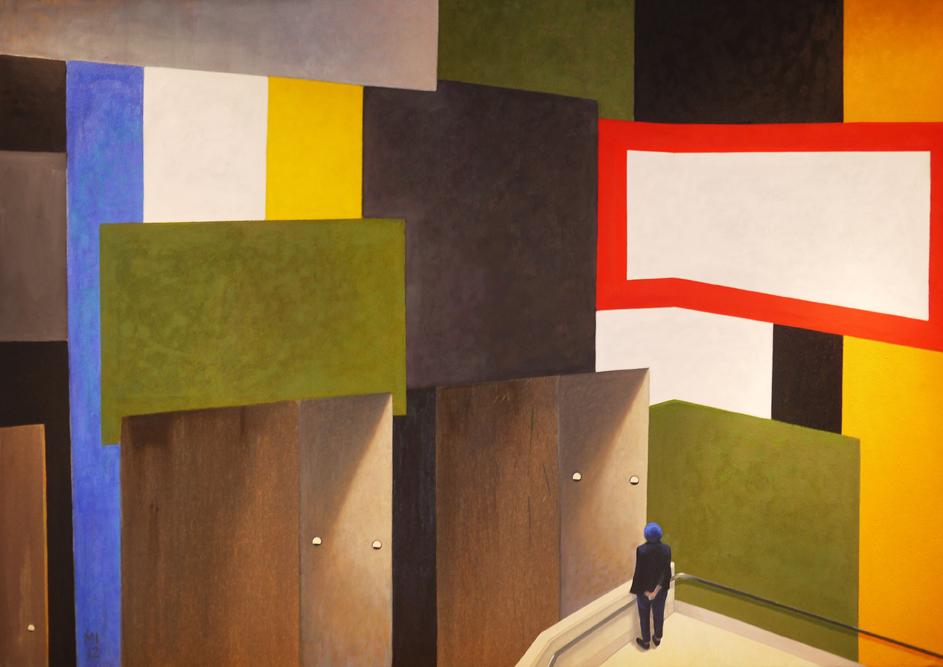 Tate Britain, Mathieu Iquel, 2013,huile sur toile, 130 x 150 cm