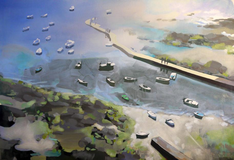 Eckmulh, Mathieu Iquel, 2013, huile sur toile, 81 x 115 cm