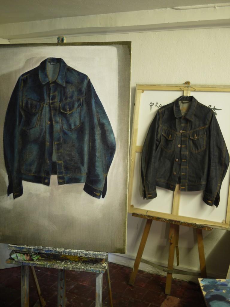 Atelier galerie Mi Mathieu Iquel, peinture, huile sur toile à Lyon