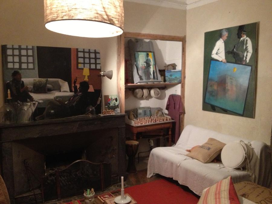 Exposition de peinture à l'Hôtel Colonnes de Riez, avec le peintre Mathieu Iquel