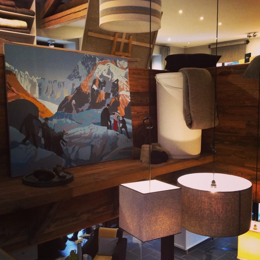 Maison Arpin Chamonix, peinture Mathieu Iquel