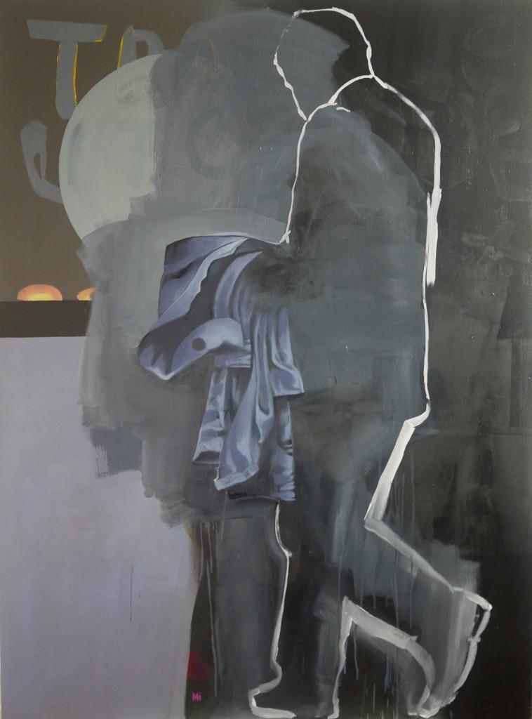 Marcheur 2, Mathieu Iquel, 2016, huile sur toile