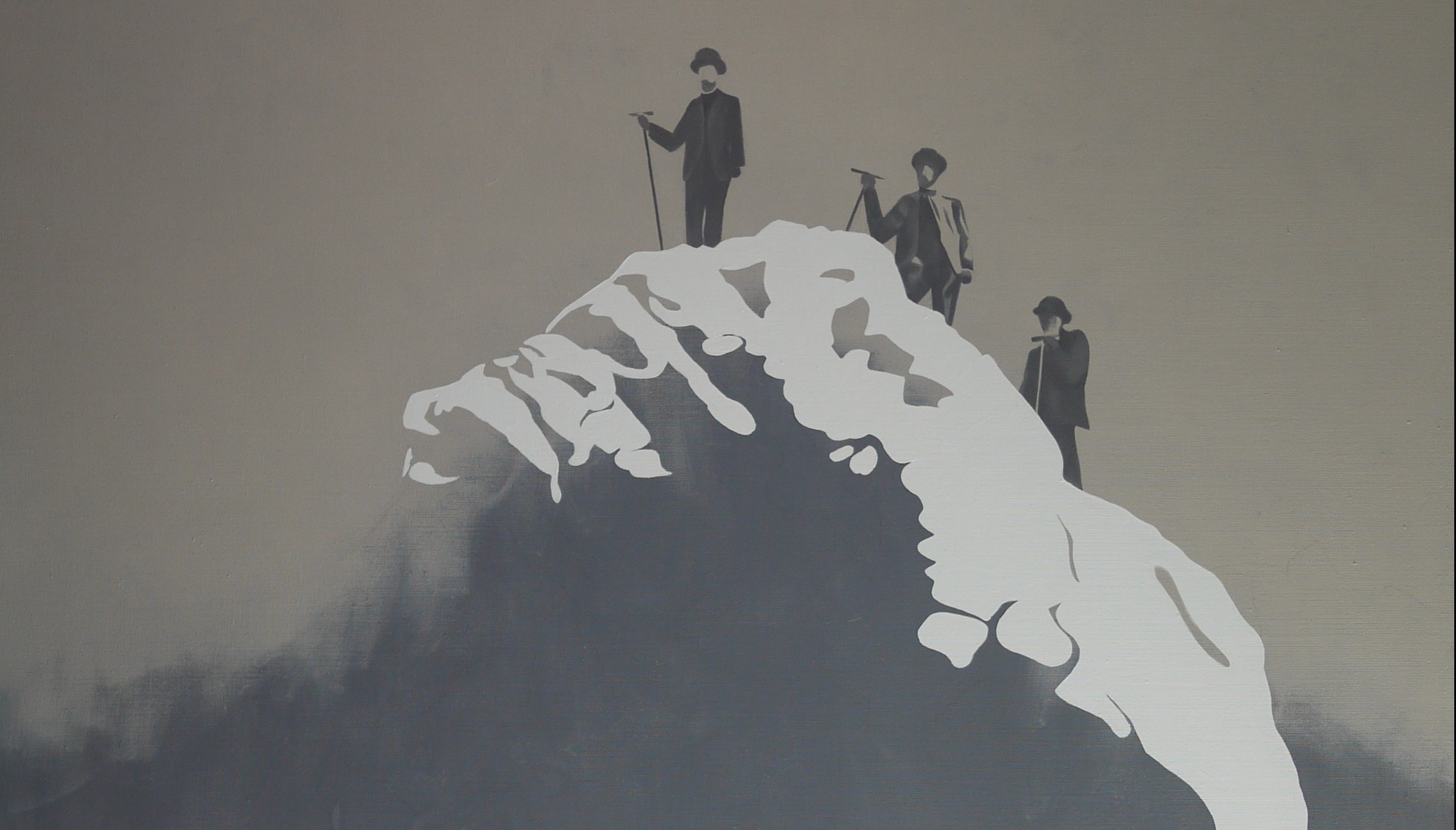 Mont Blanc, Mathieu Iquel, huile sur toile