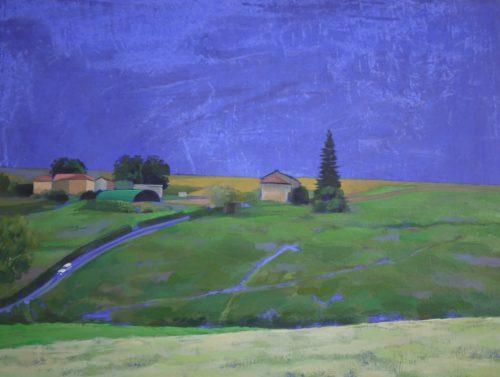 Landscape bleu