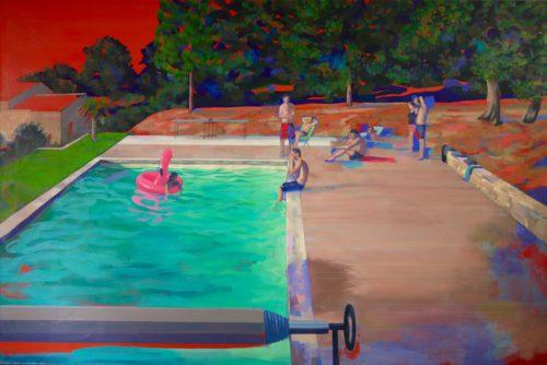 La piscine, chez Tony